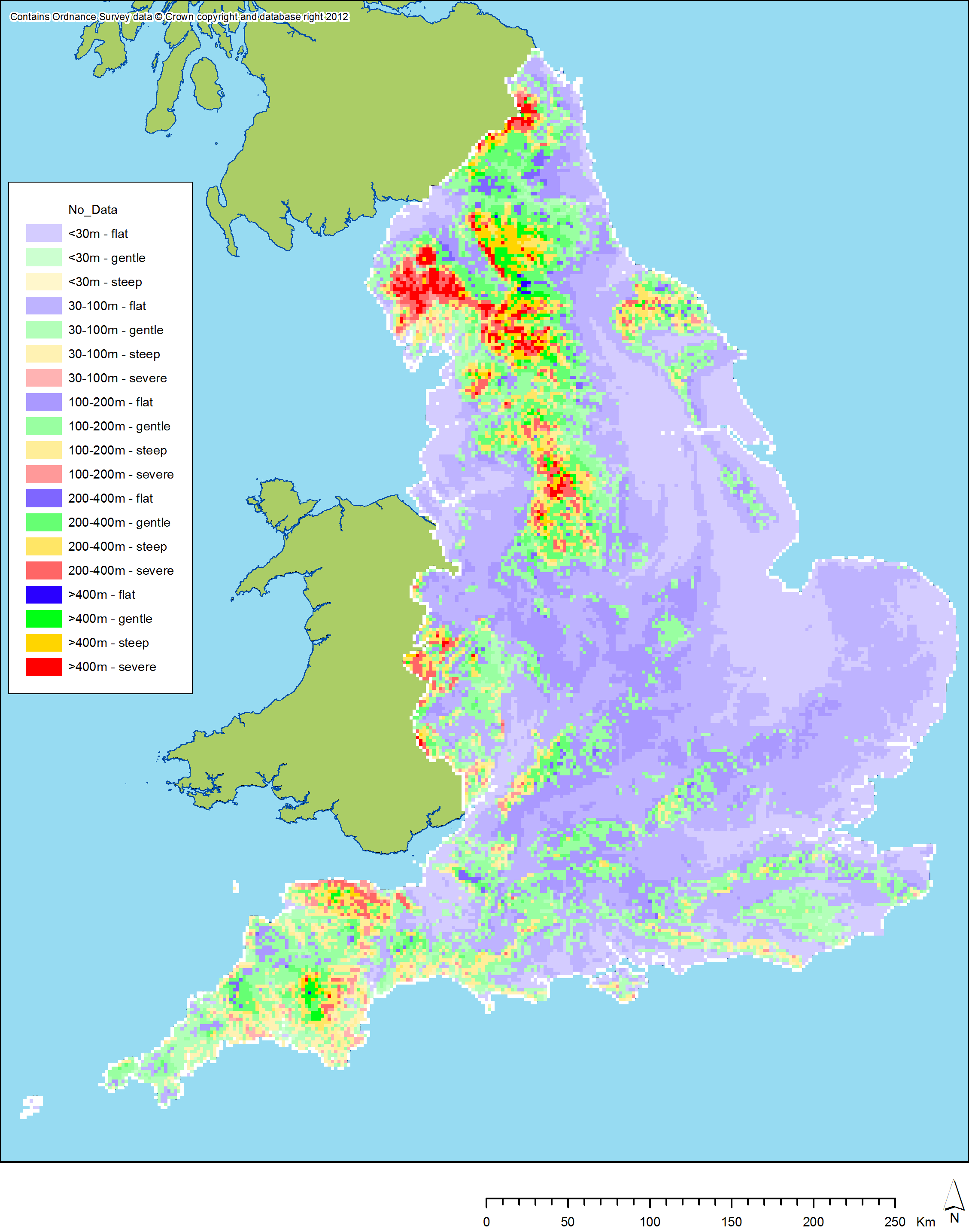 Terrain Map Of Uk Satellite Map Of Uk D Maps Of Uk Population - Terrain map uk