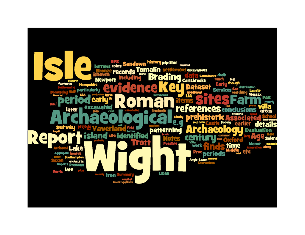 Isle of Wight evidence summary sheet tagcloud