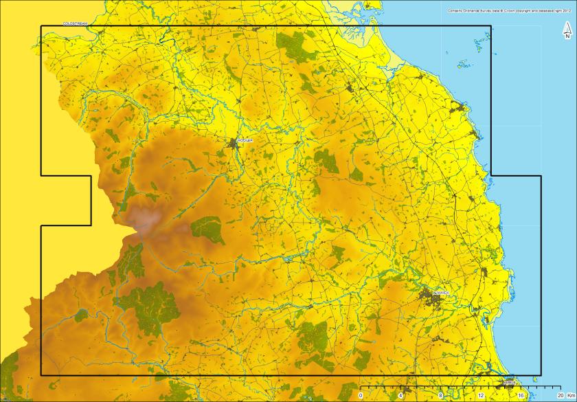 Northumberland case study area: modern land use