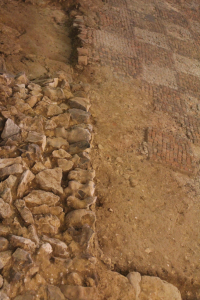 Clay, flint and limestone rubble - Brading Roman villa