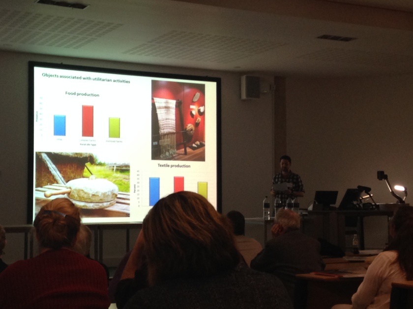 Tom Brindle of the Roman Grey Literature project presenting his paper