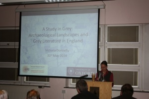 Presenting on the English Landscapes and Identities Project and Grey Literature at DVAD2014