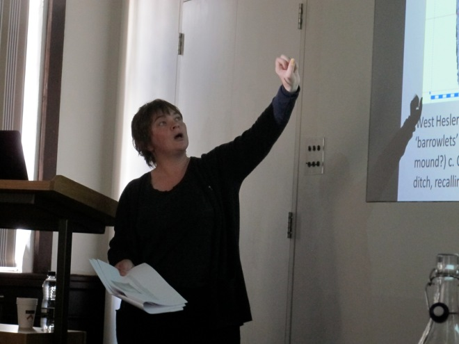 Melanie Giles in the flow of her presentation