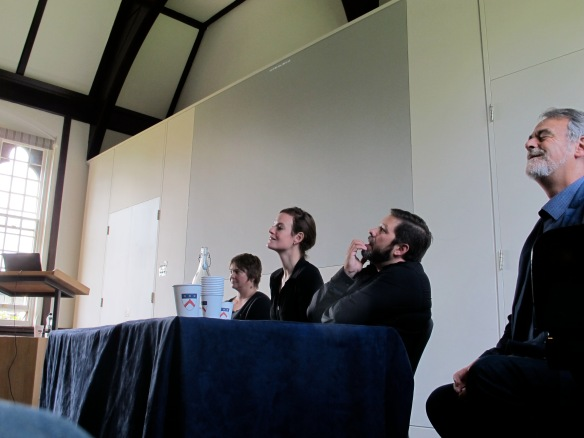 From left to right: Melanie Giles, Letty ten Harkel, Stuart Brookes and Richard Bradley during discussion time