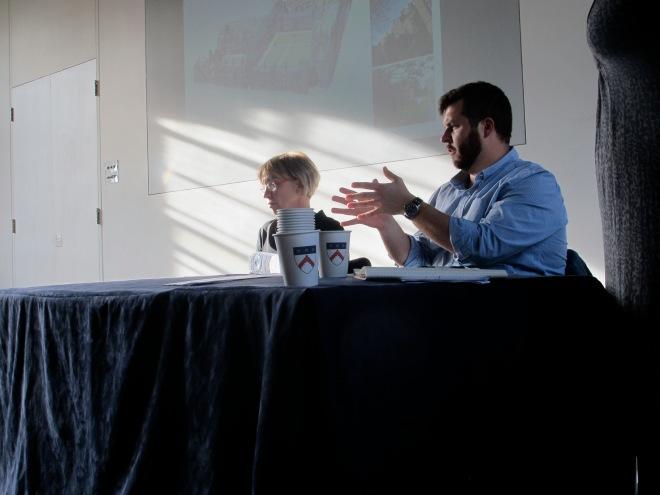 Dagmar Dreslerová and Tyler Franconi during the final questions