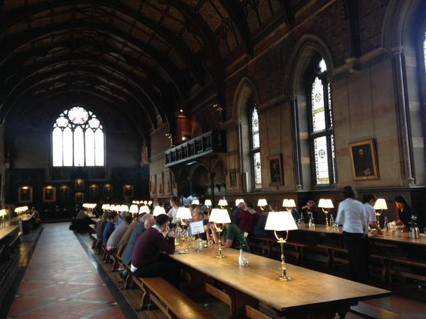 Keble Hall - apparently deliberately designed to be some 10 m longer than Christ Church College Hall..